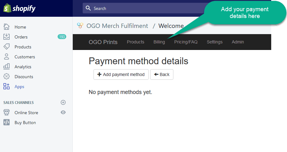 OGO Add Payment and Billing Details